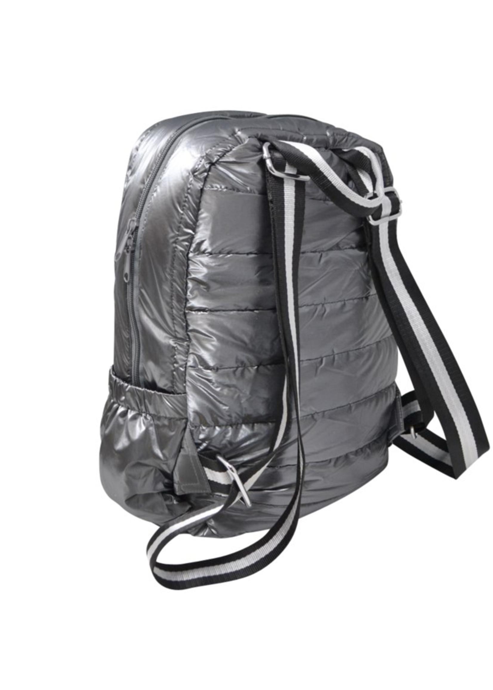 Puffer Backpack Gray/Black