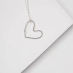 Devi Silver heart necklace