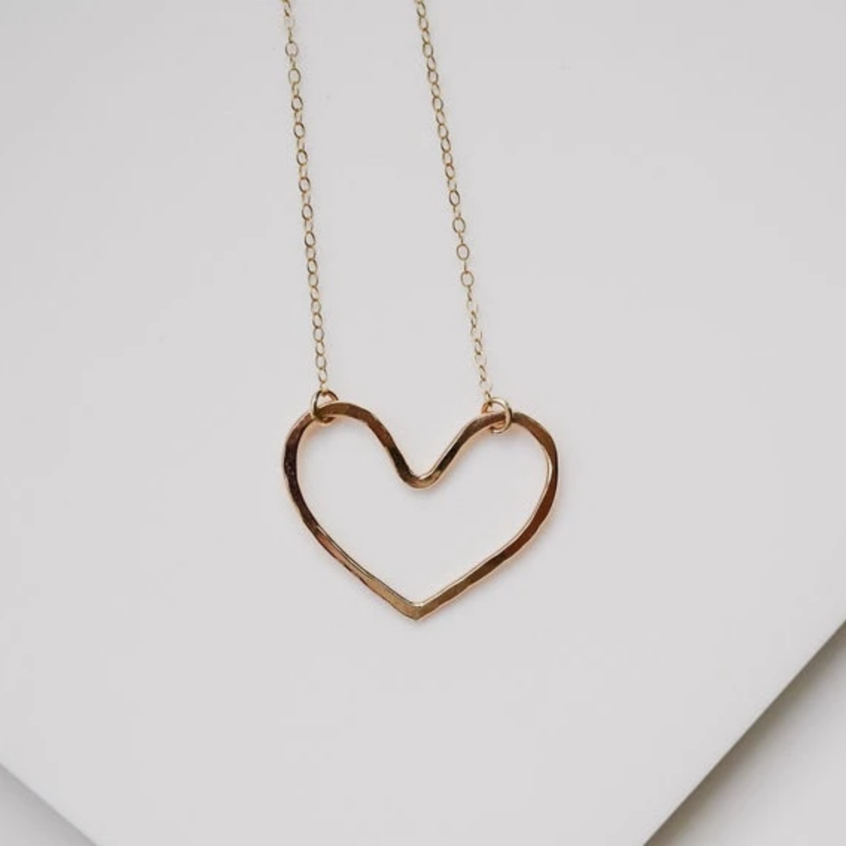 Devi Gold heart necklace