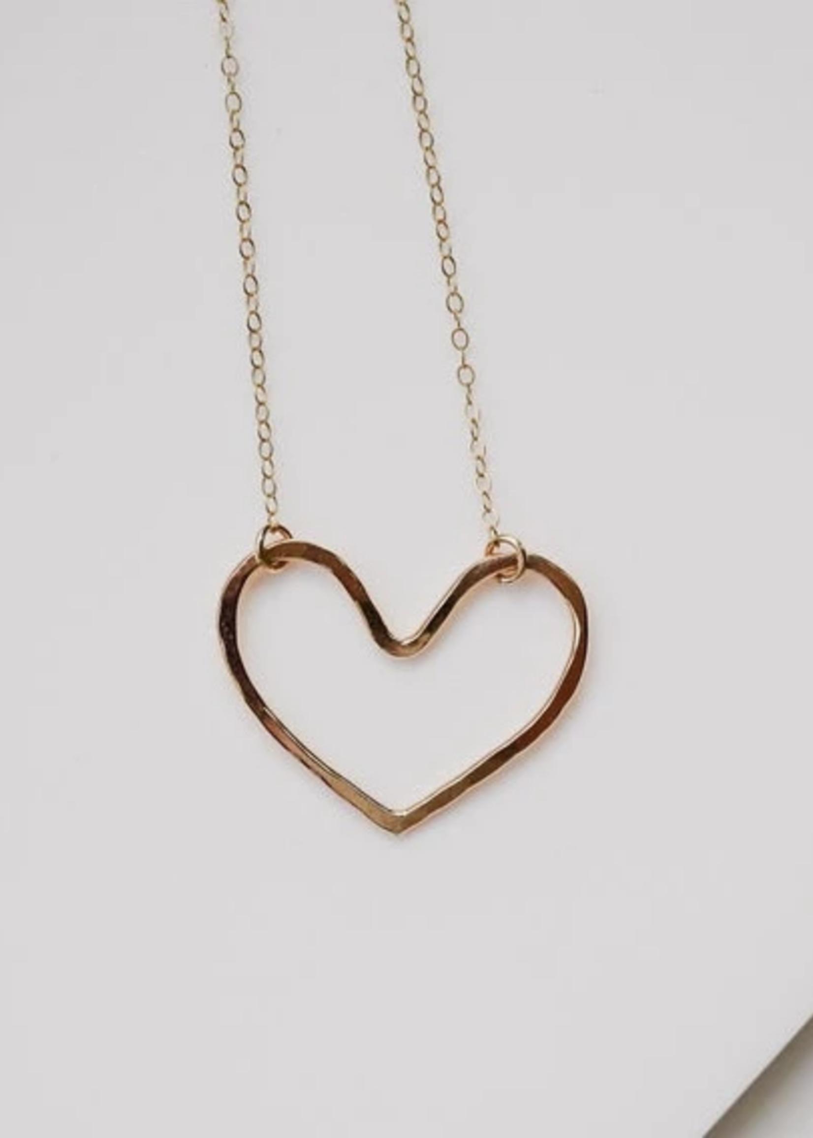 Devi Gold heart necklace