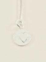 Devi Silver Heart Charm Necklace
