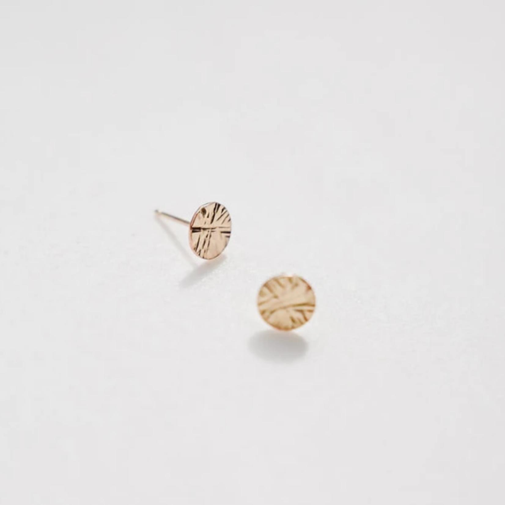 Starburst gold earring