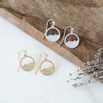 Diamond Head Earrings Silver
