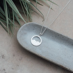 Diamond Head Mountain Necklace Silver