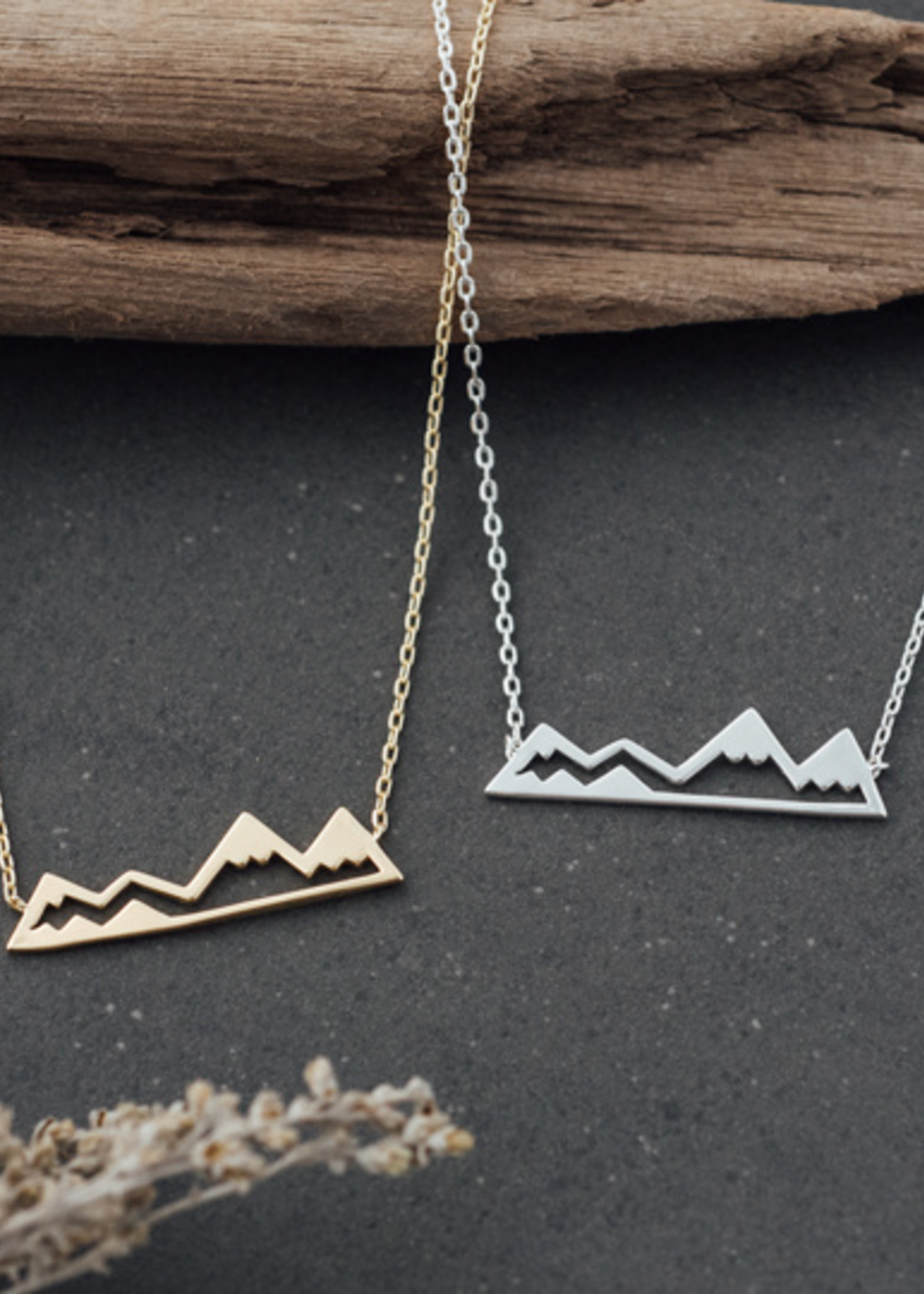 Glee Jewelry Olympic Mountain Necklace /Silver