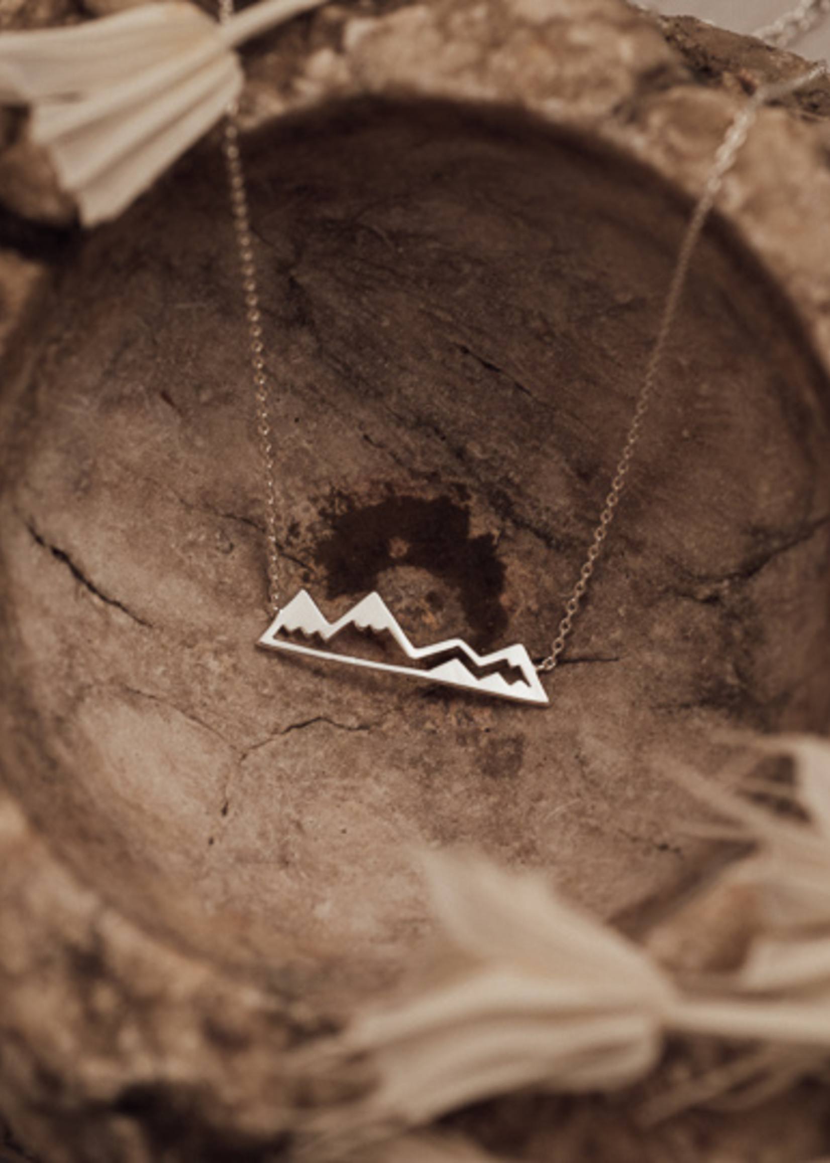 Olympic Mountain Necklace Silver