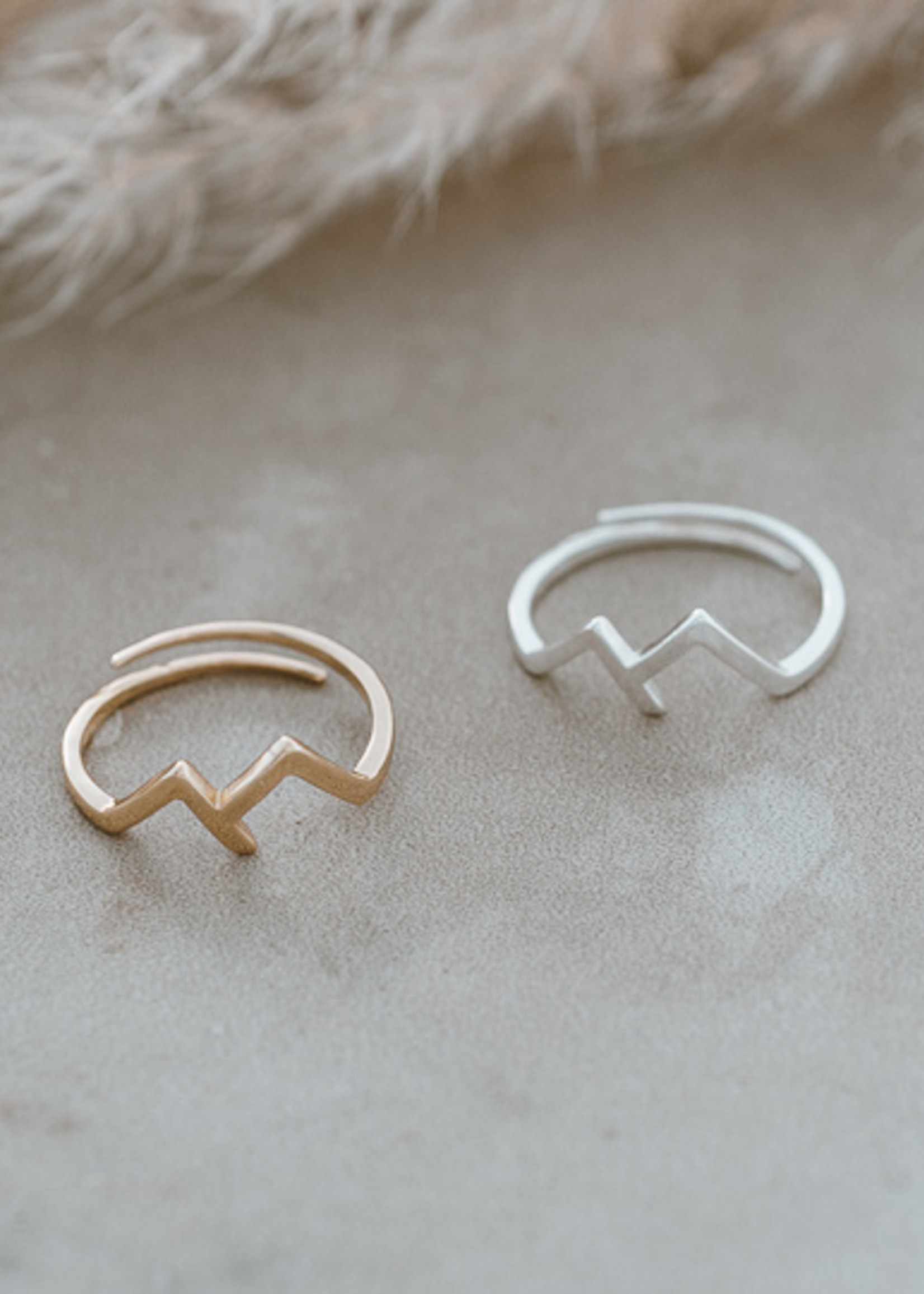 Glee Jewelry Rocky Mountain Ring Gold