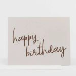 Wrinkle and Crease Happy Birthday Card