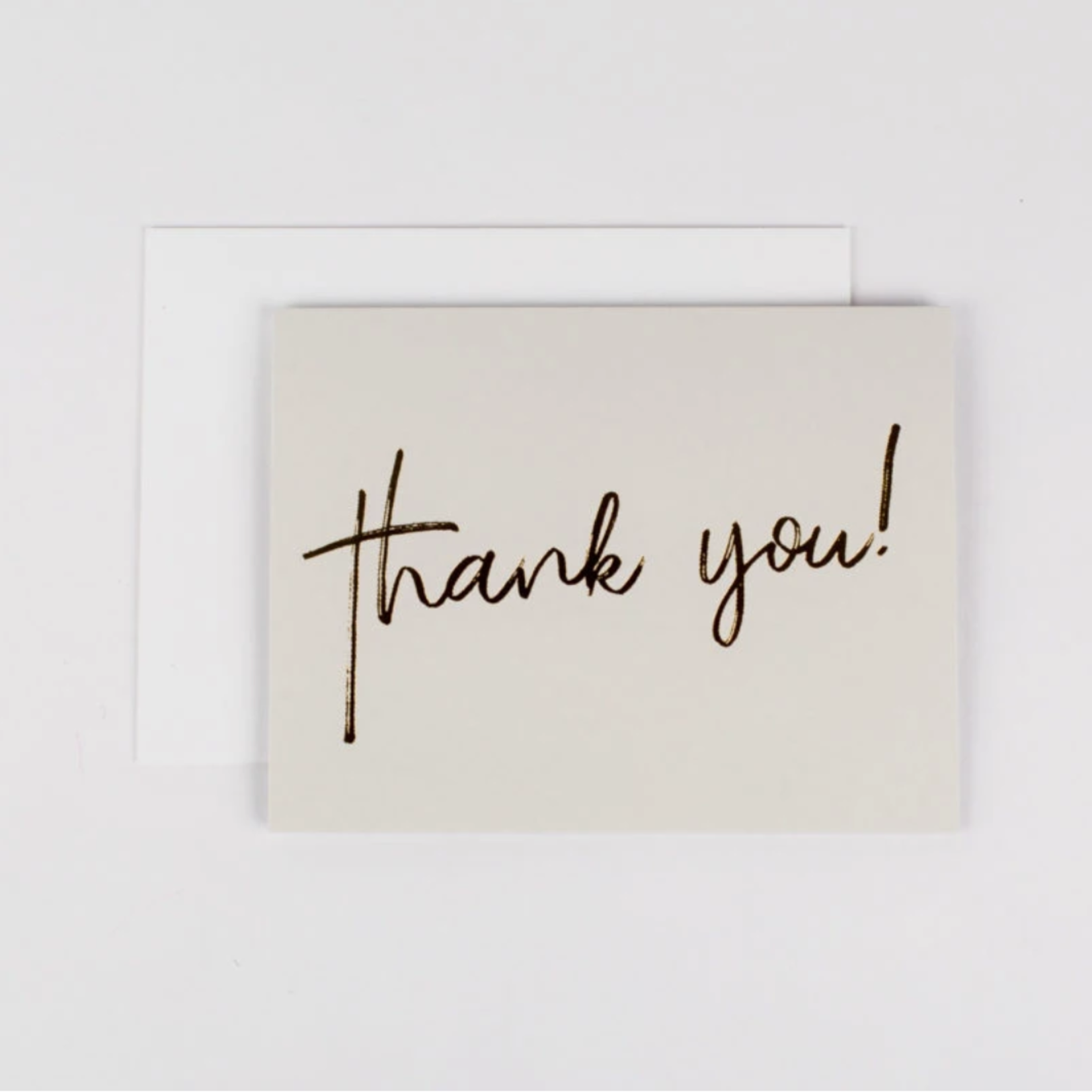 Wrinkle and Crease Thank you! Card