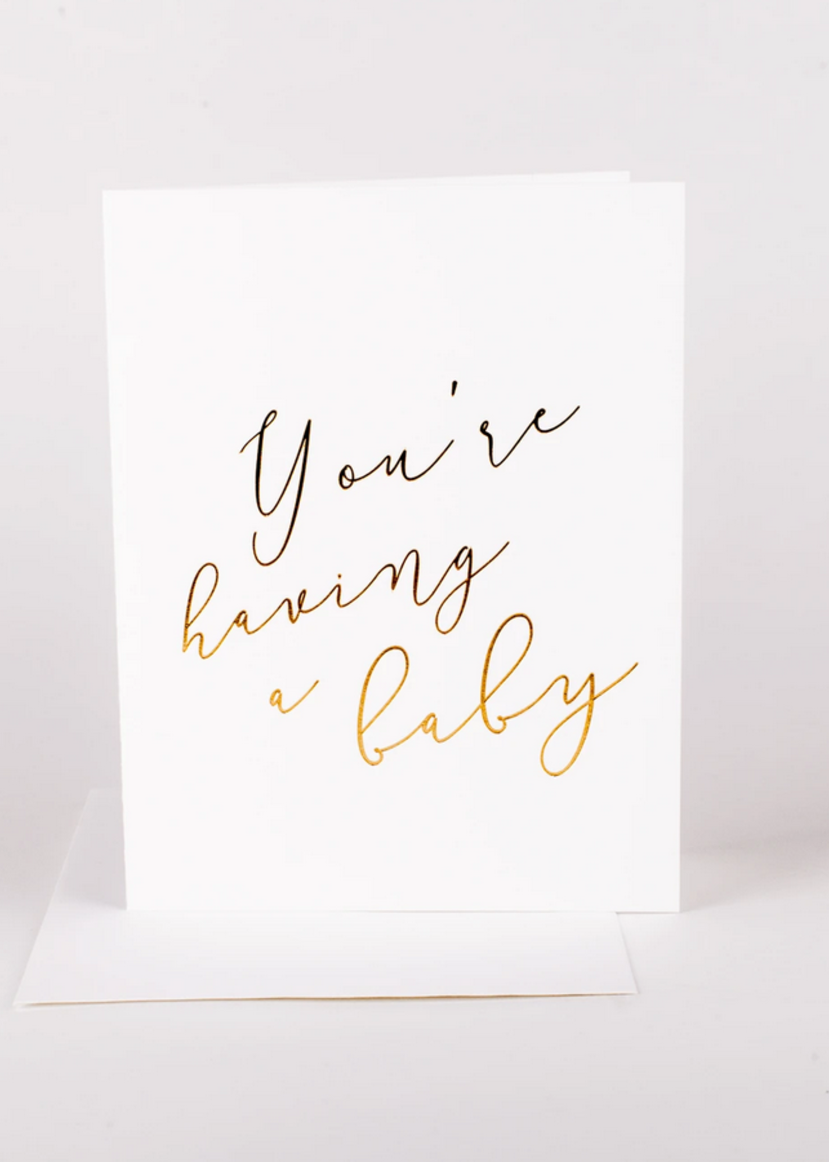 Wrinkle and Crease You're having a baby card