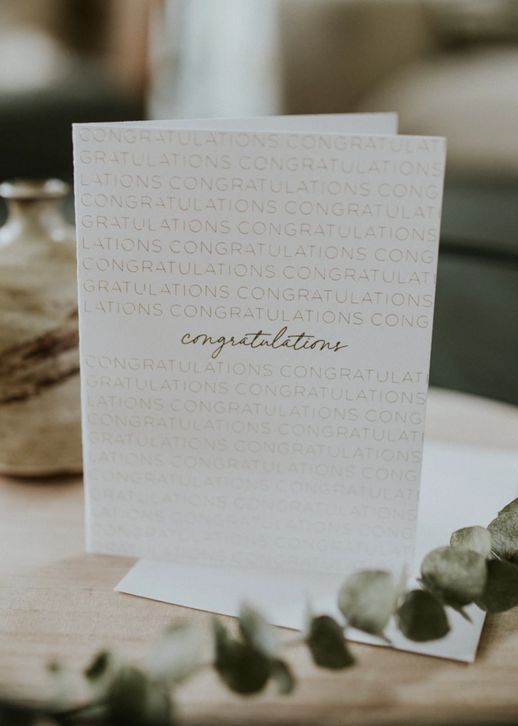 Wrinkle and Crease Congratulations card