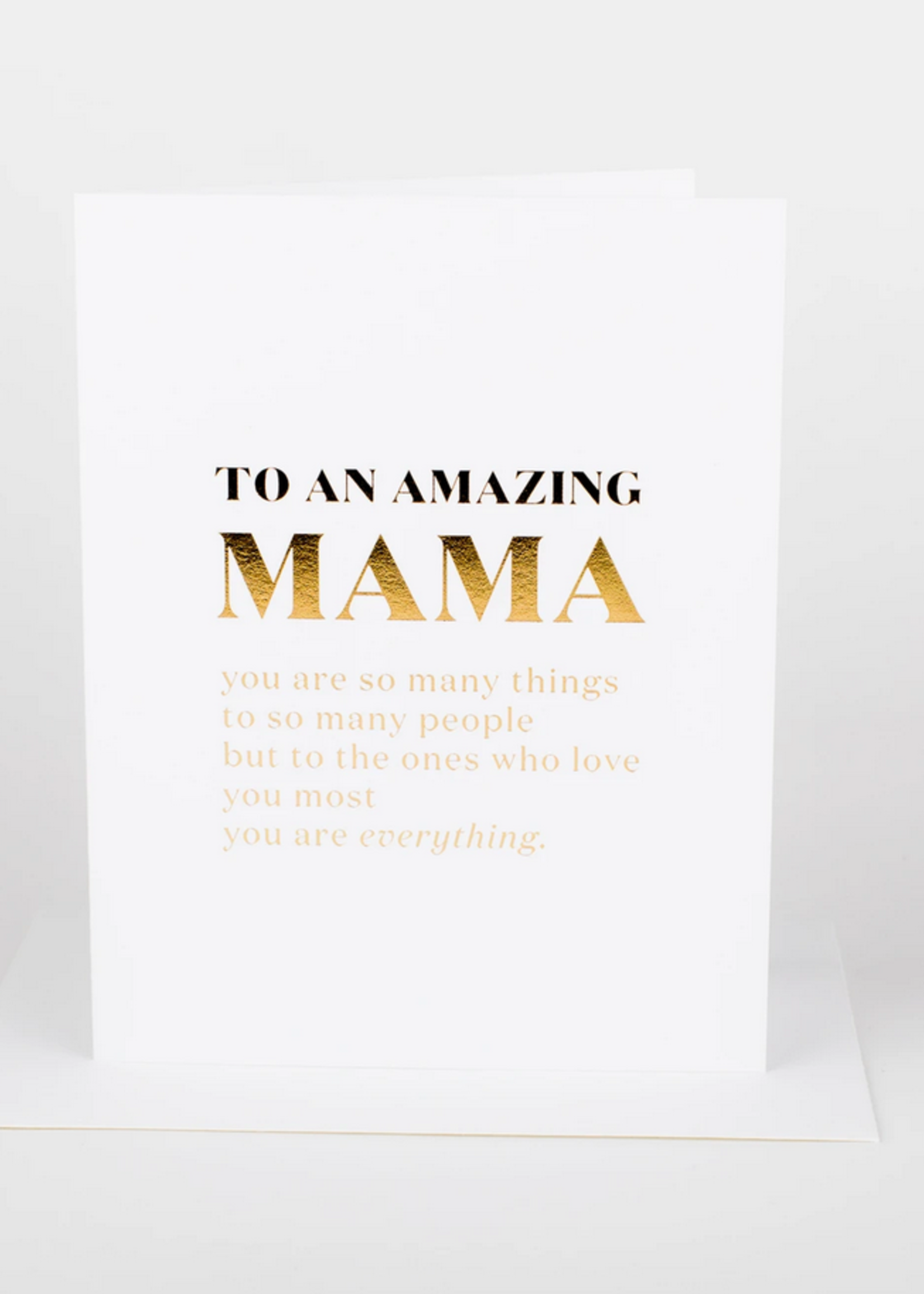 Wrinkle and Crease To an amazing Mama card