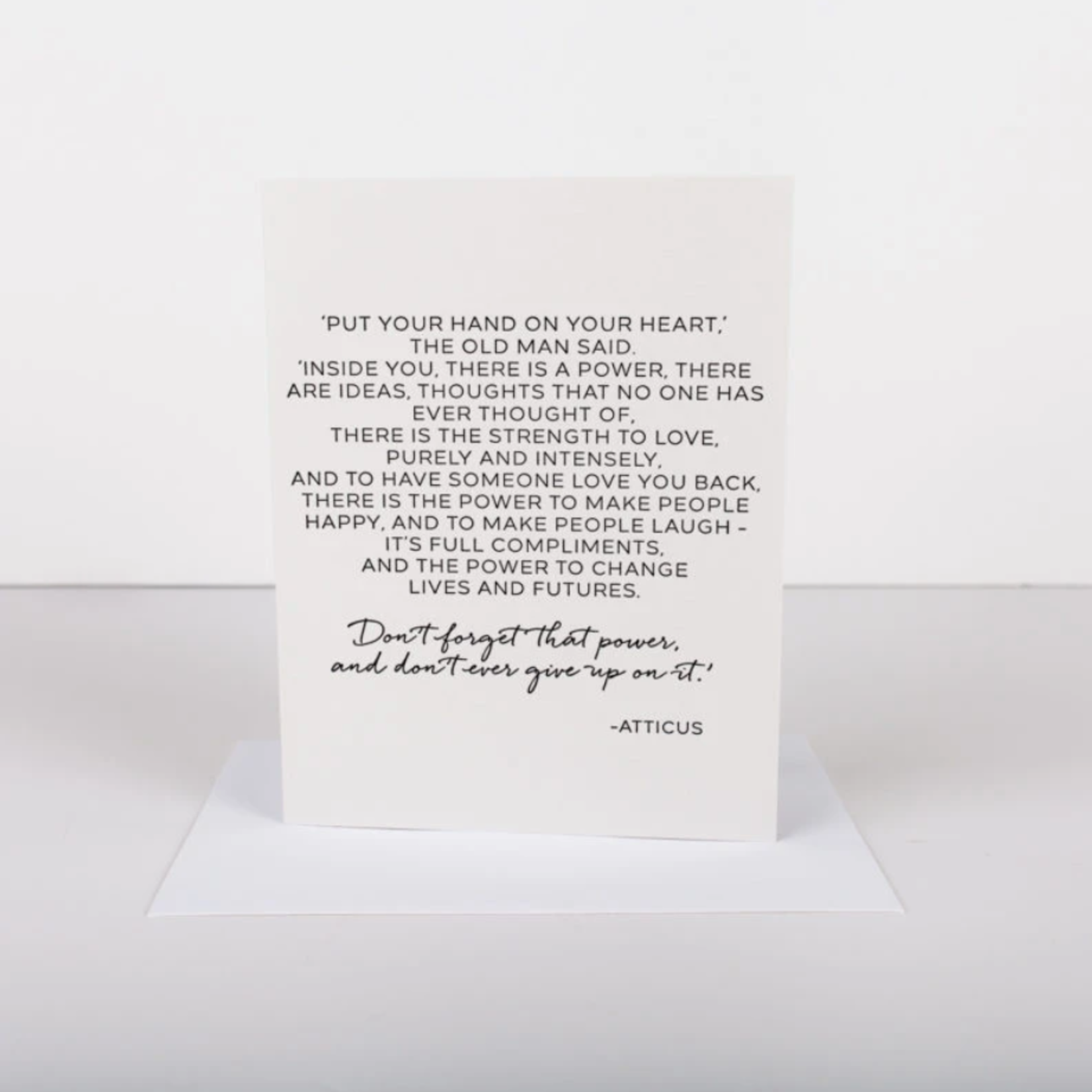 Wrinkle and Crease Atticus Card