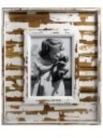 5x7, rustic white wood frame