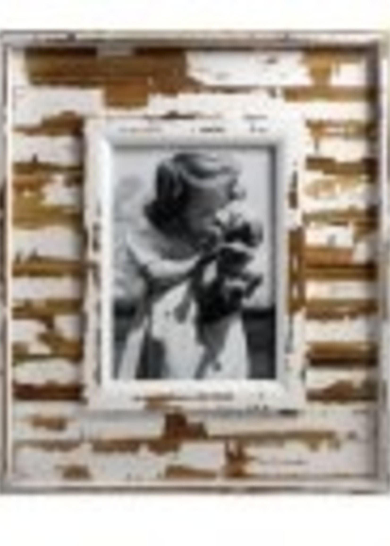 ,5x7 rustic white wood frame