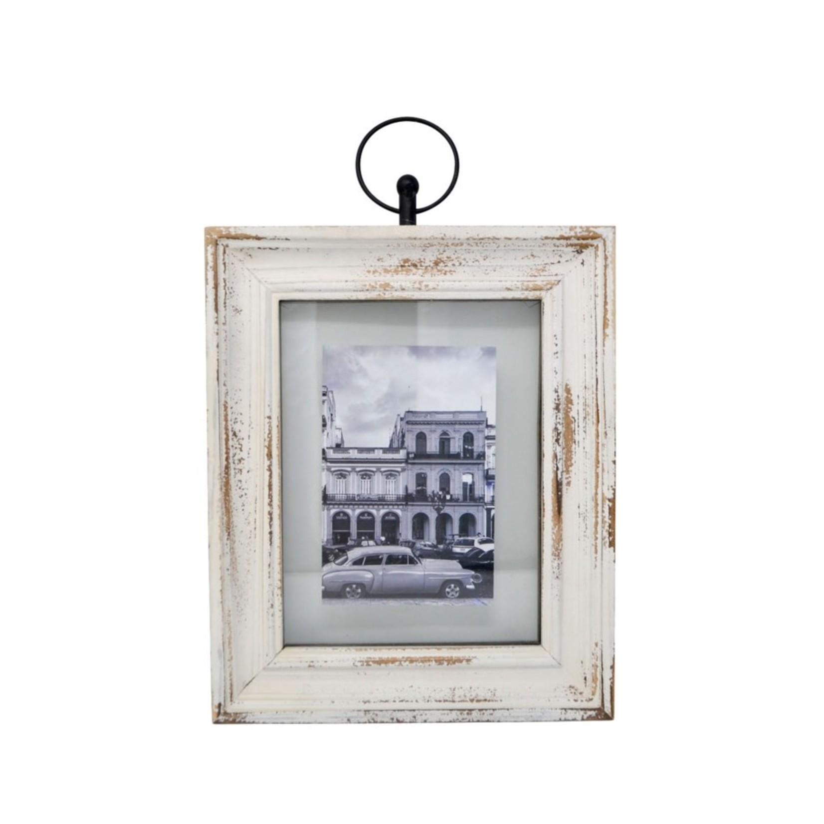 Nostalgia Antique frame white (hanging)