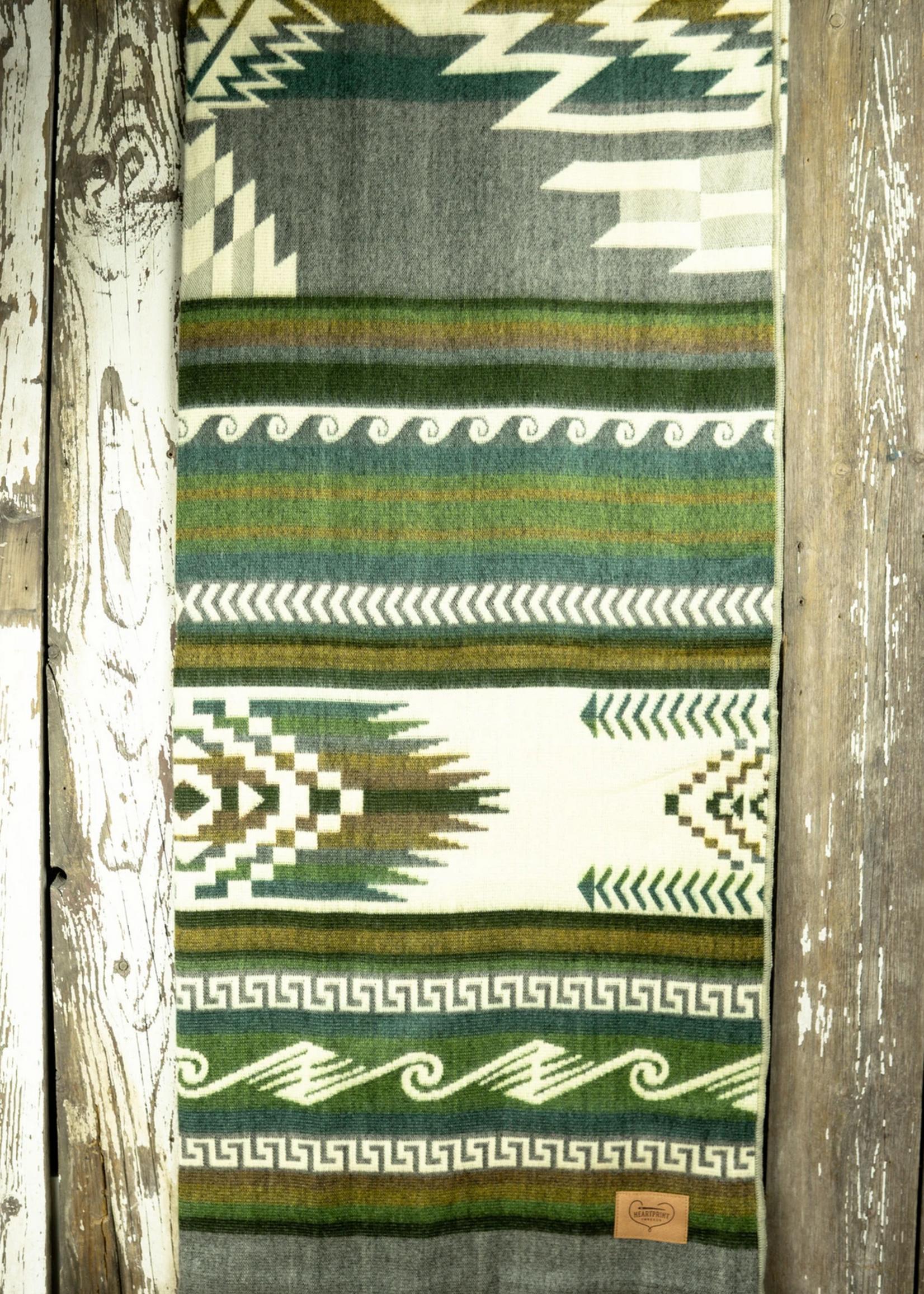 HeartPrint Threads Hopewell Maskuy Blanket- Queen