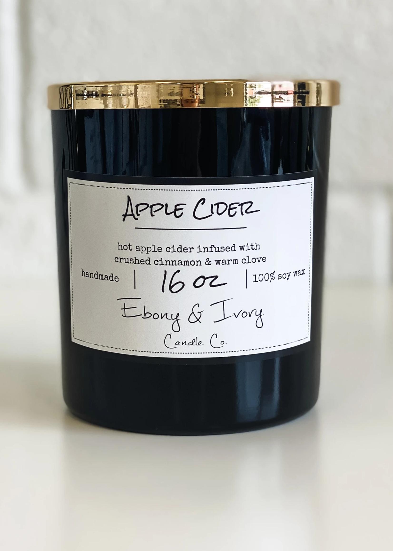 Ebony & Ivory Candle Co. Apple Cider- 16oz