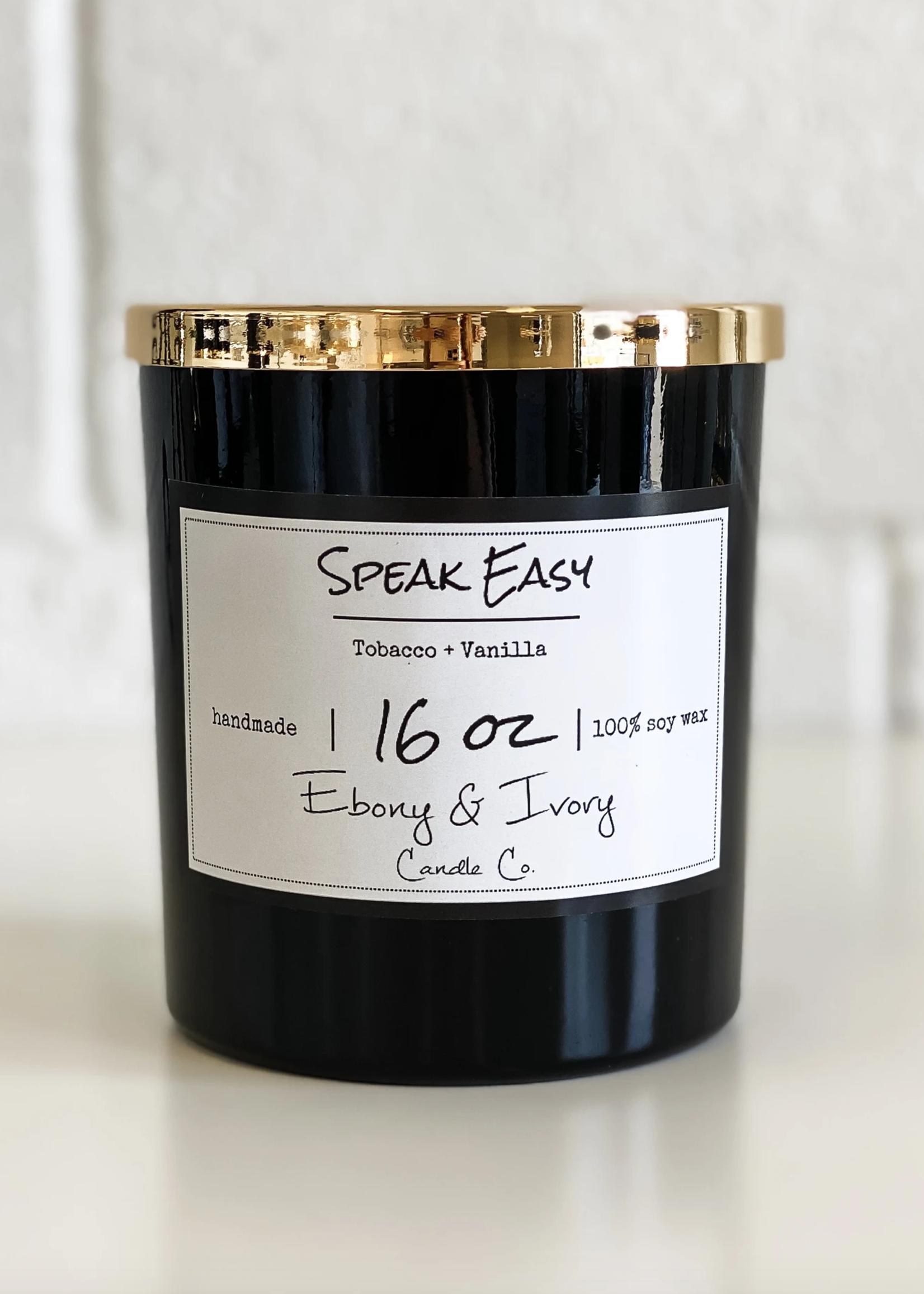 Ebony & Ivory Candle Co. Speak Easy- 16oz