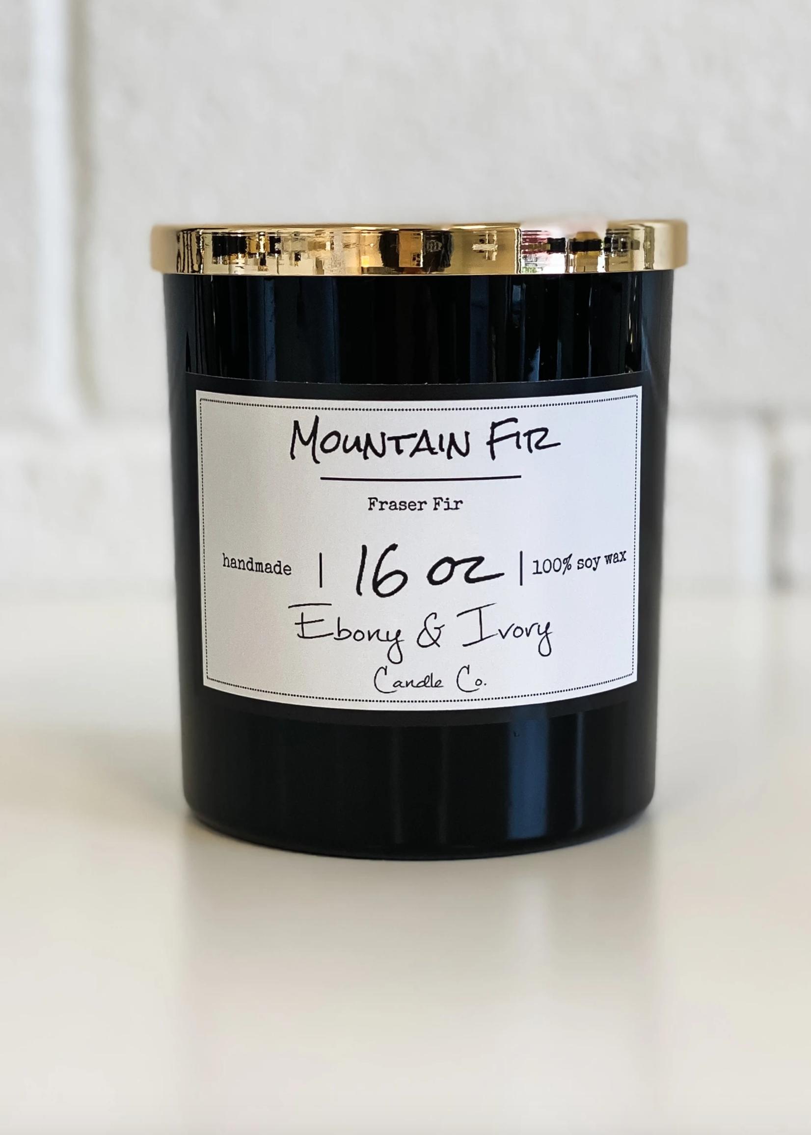 Ebony & Ivory Candle Co. Mountain Fir- 16 oz