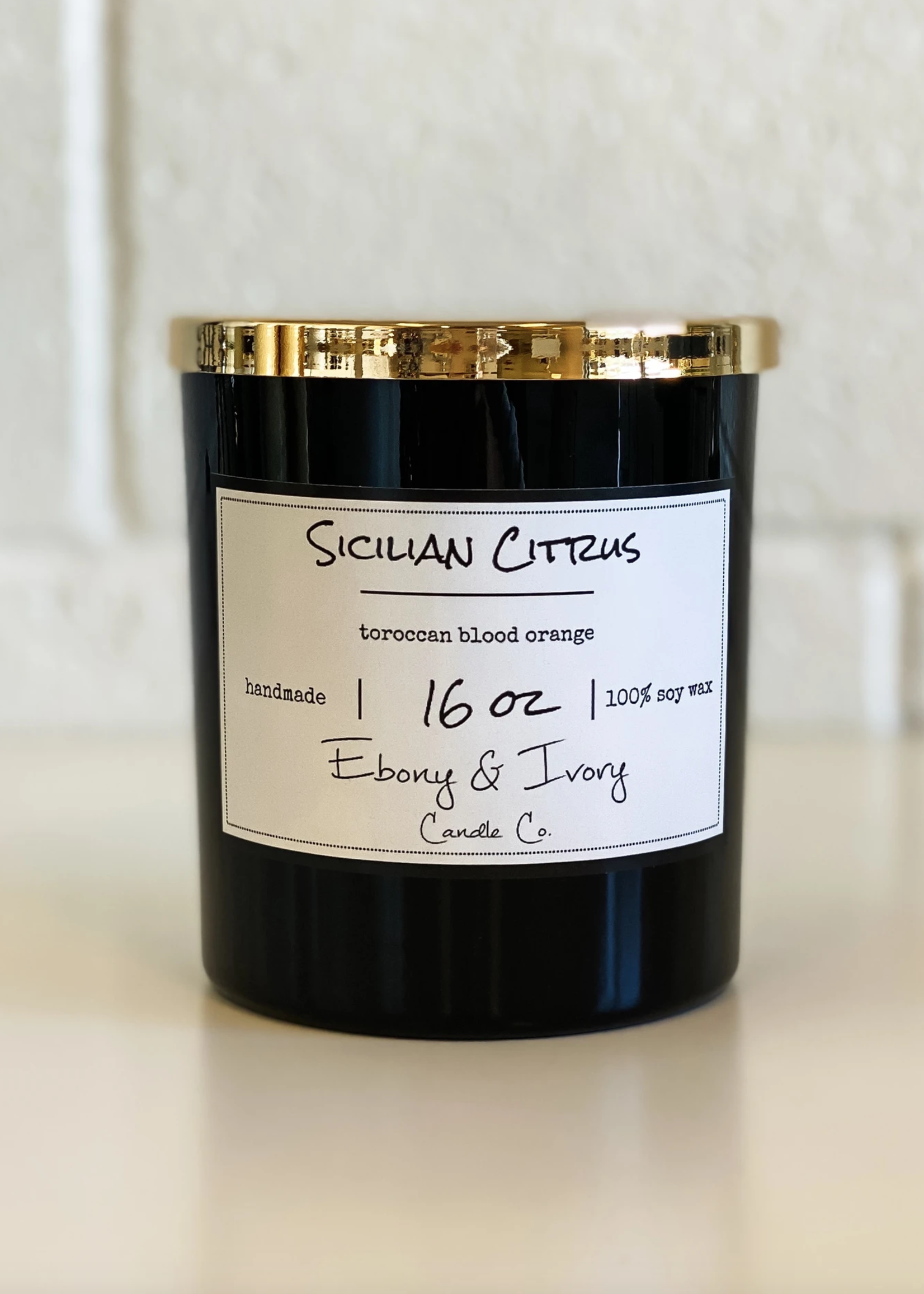 Ebony & Ivory Candle Co. Sicilian Citrus- 16oz