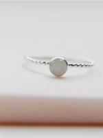 Devi Solitaire Moonstone Ring Silver