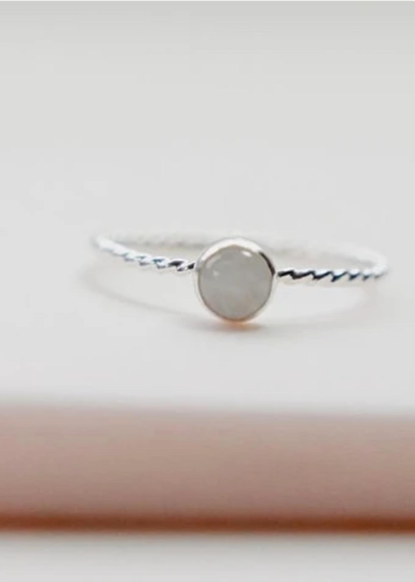 Devi Gold Onyx Gemstone Ring