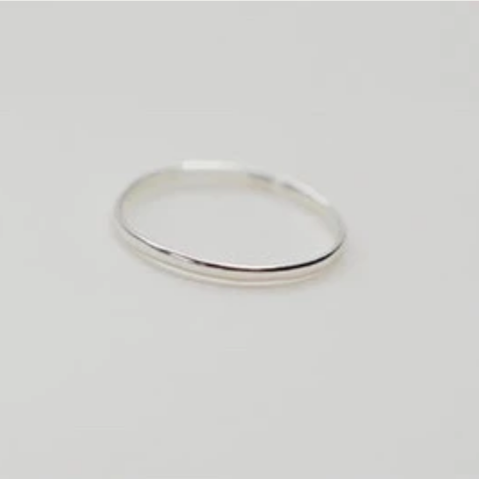 Devi Simple Silver Stacker ring