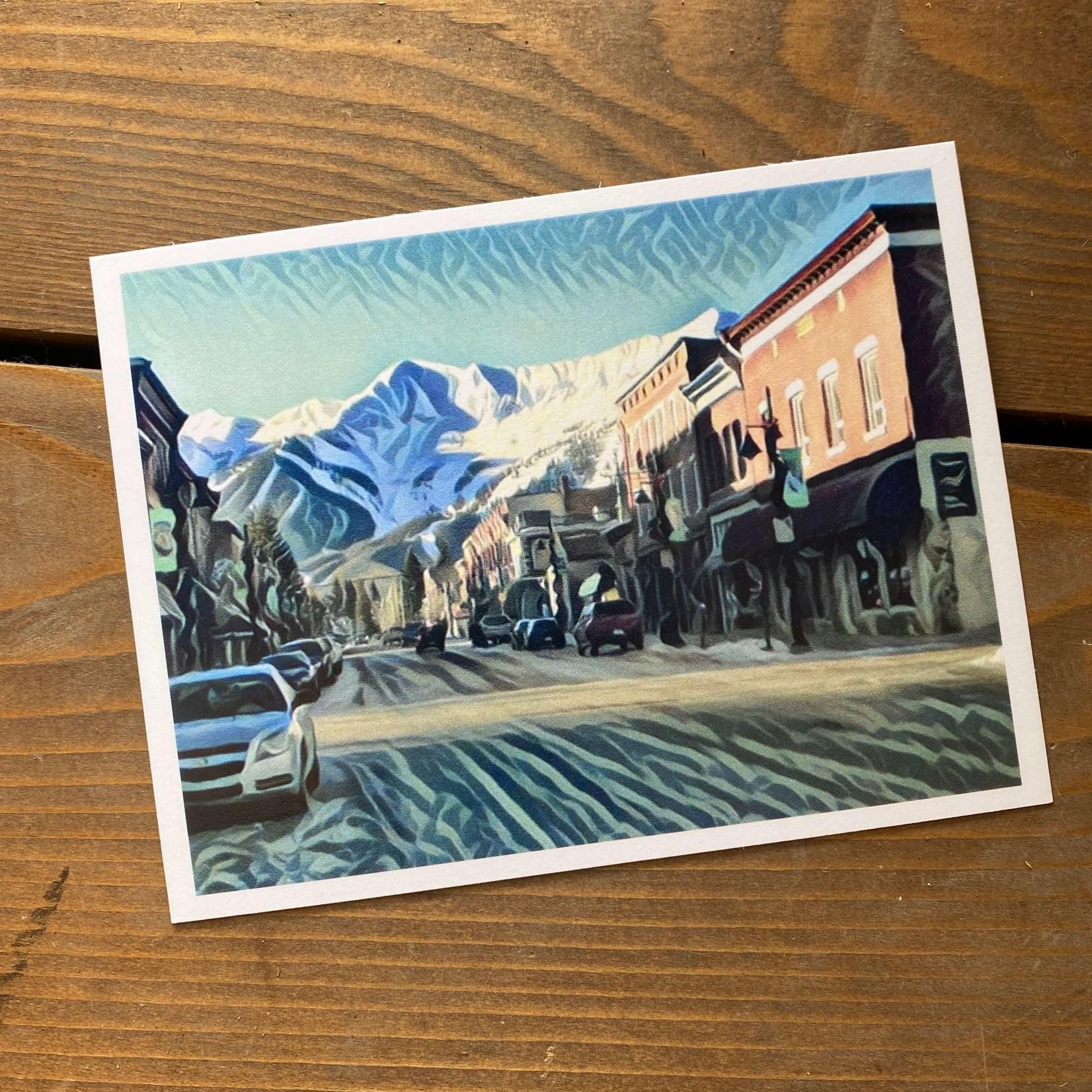 Tannis McDonald Downtown Fernie Postcard