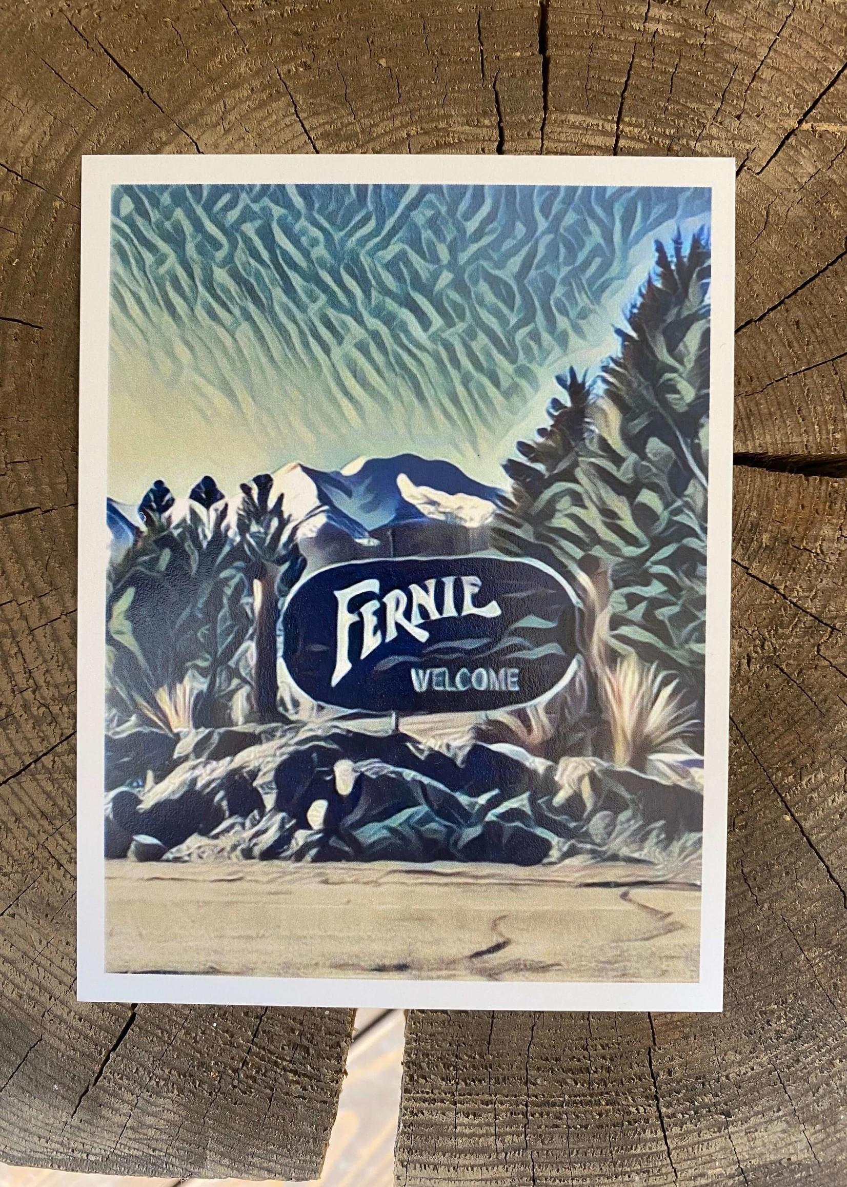 Tannis McDonald Tannis Fernie Welcome Sign Postcard