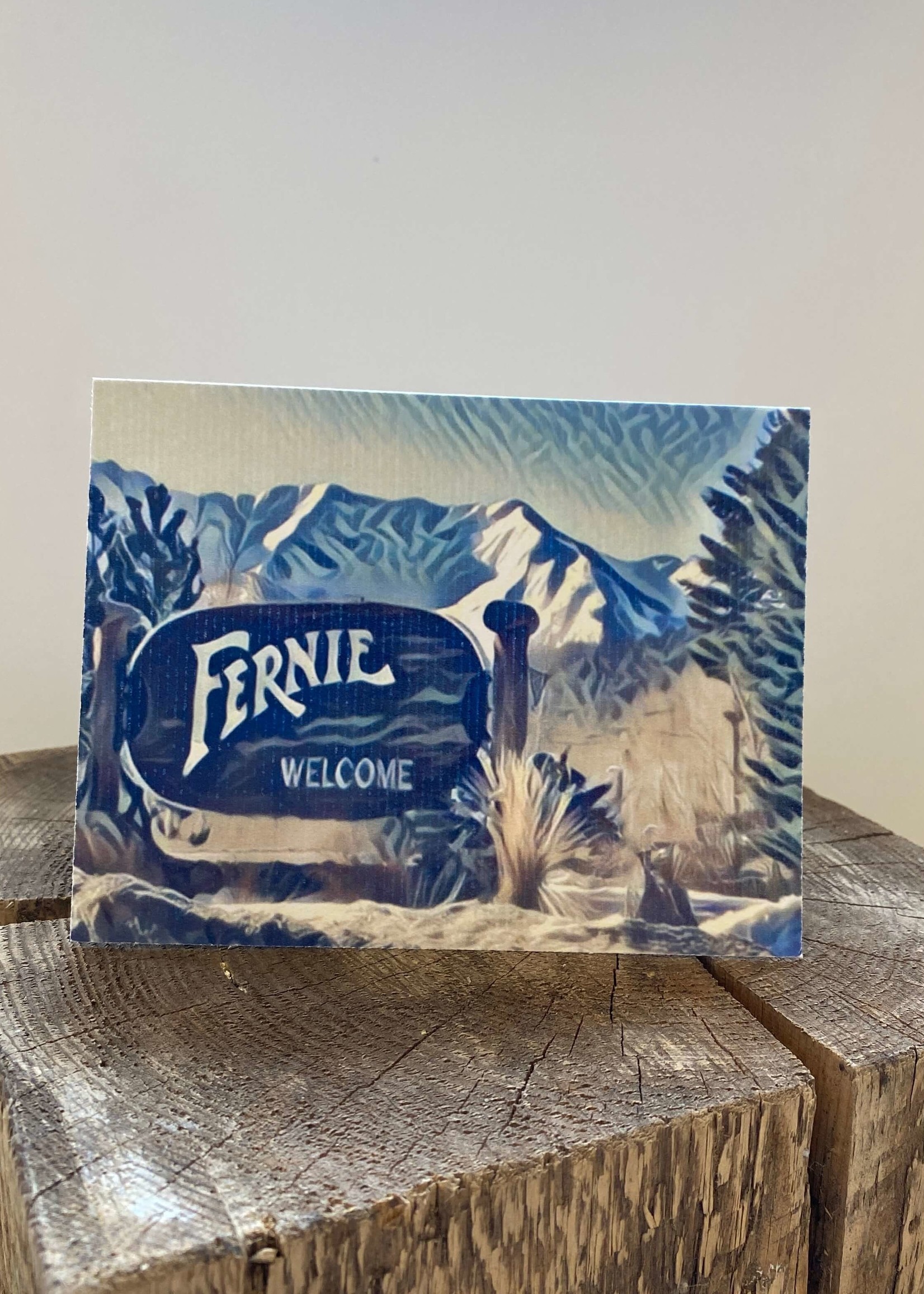 Tannis McDonald Fernie Welcome Sign Card