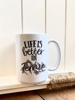 Pinetree innovations Life is better in Fernie mug