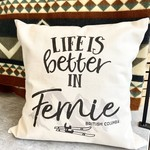 Pinetree innovations Life is better Fernie pillow w/ski