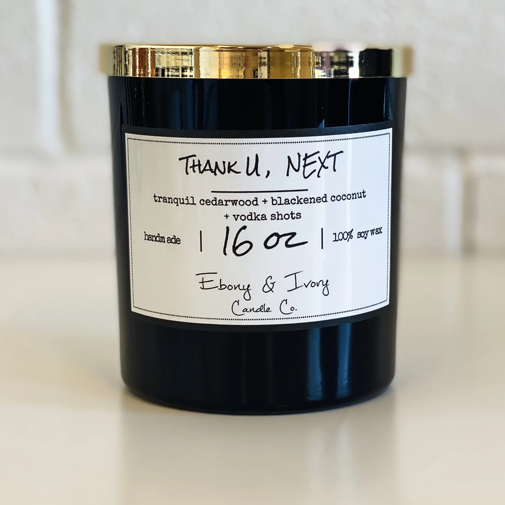 Ebony & Ivory Candle Co. Thank U, NEXT 16oz
