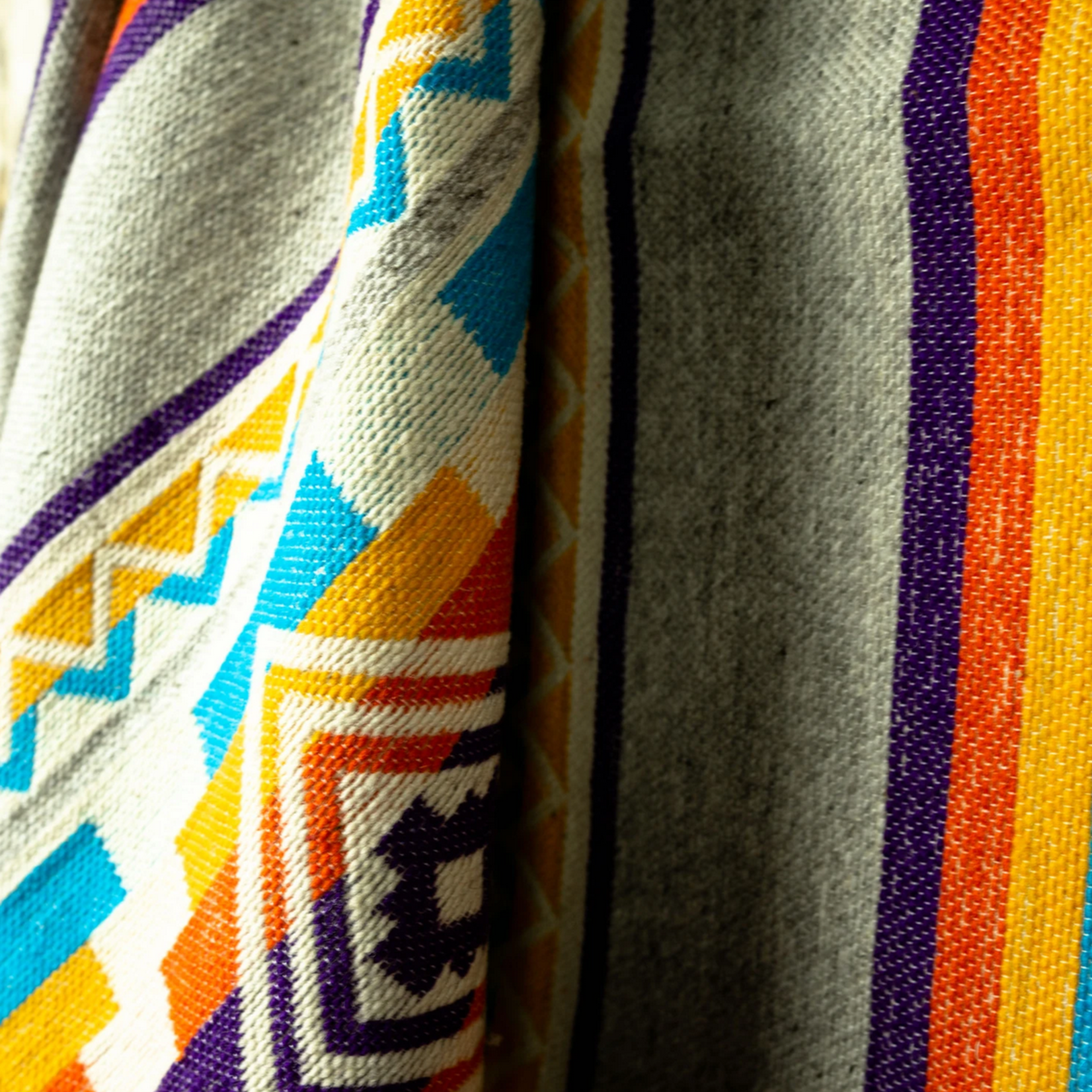HeartPrint Threads Summer Fling Wool Throw