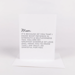 Wrinkle and Crease Mom card