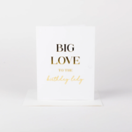 Wrinkle and Crease Big Love, Birthday Lady card