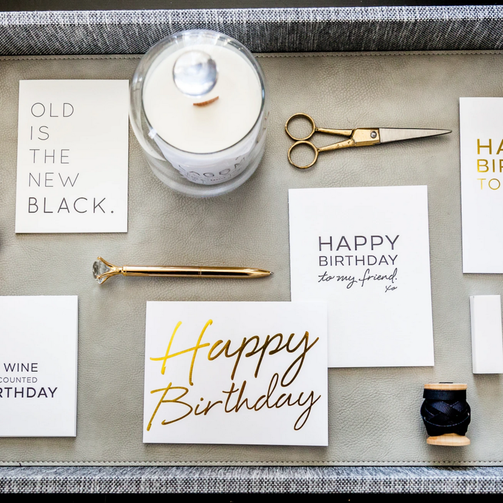 Wrinkle and Crease Birthday card