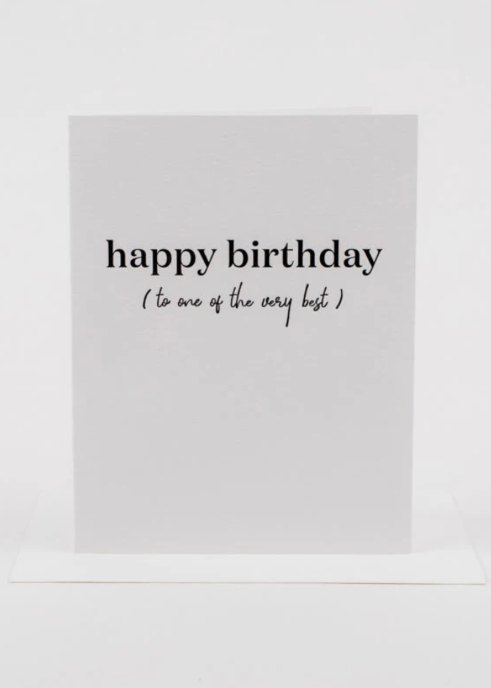 Wrinkle and Crease Birthday Best card