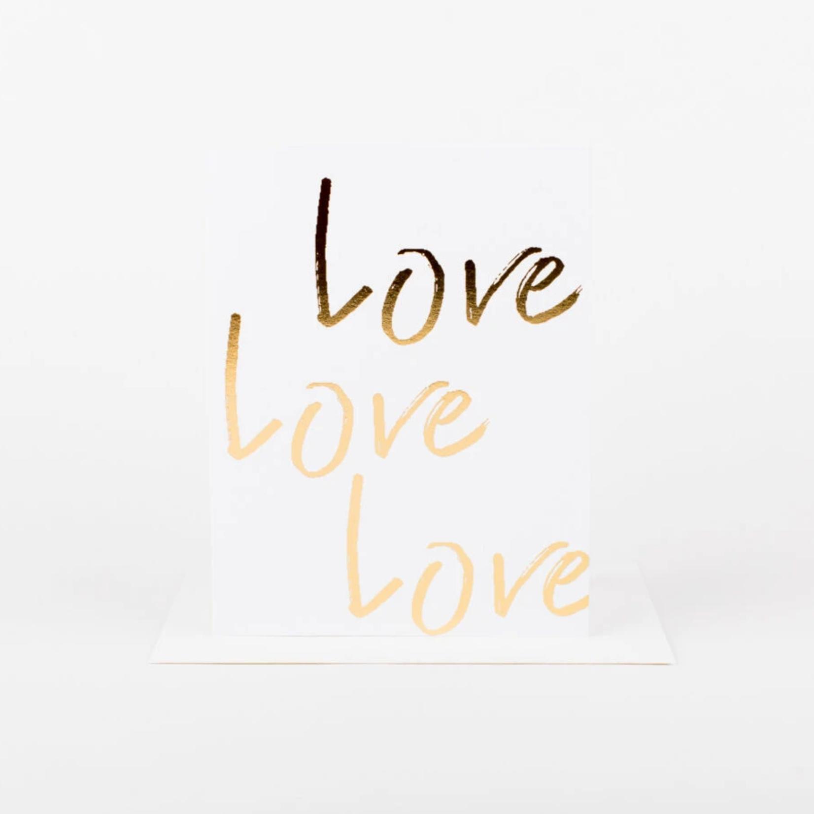 Wrinkle and Crease Love Love Love card