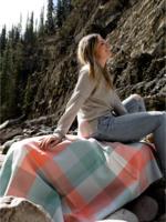 HeartPrint Threads Picnic blanket- Warm Breeze