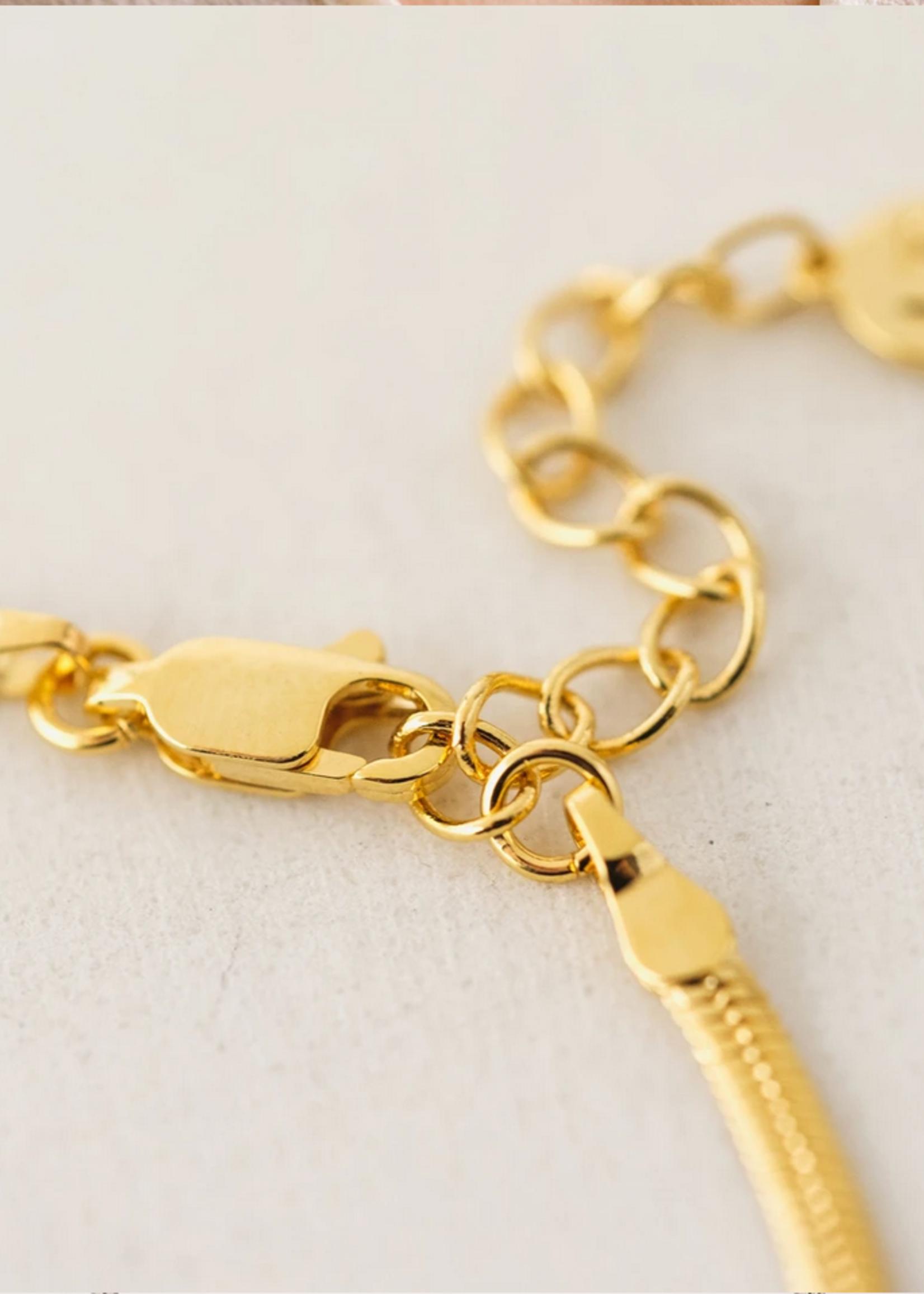 Herringbone Chain Necklace Gold