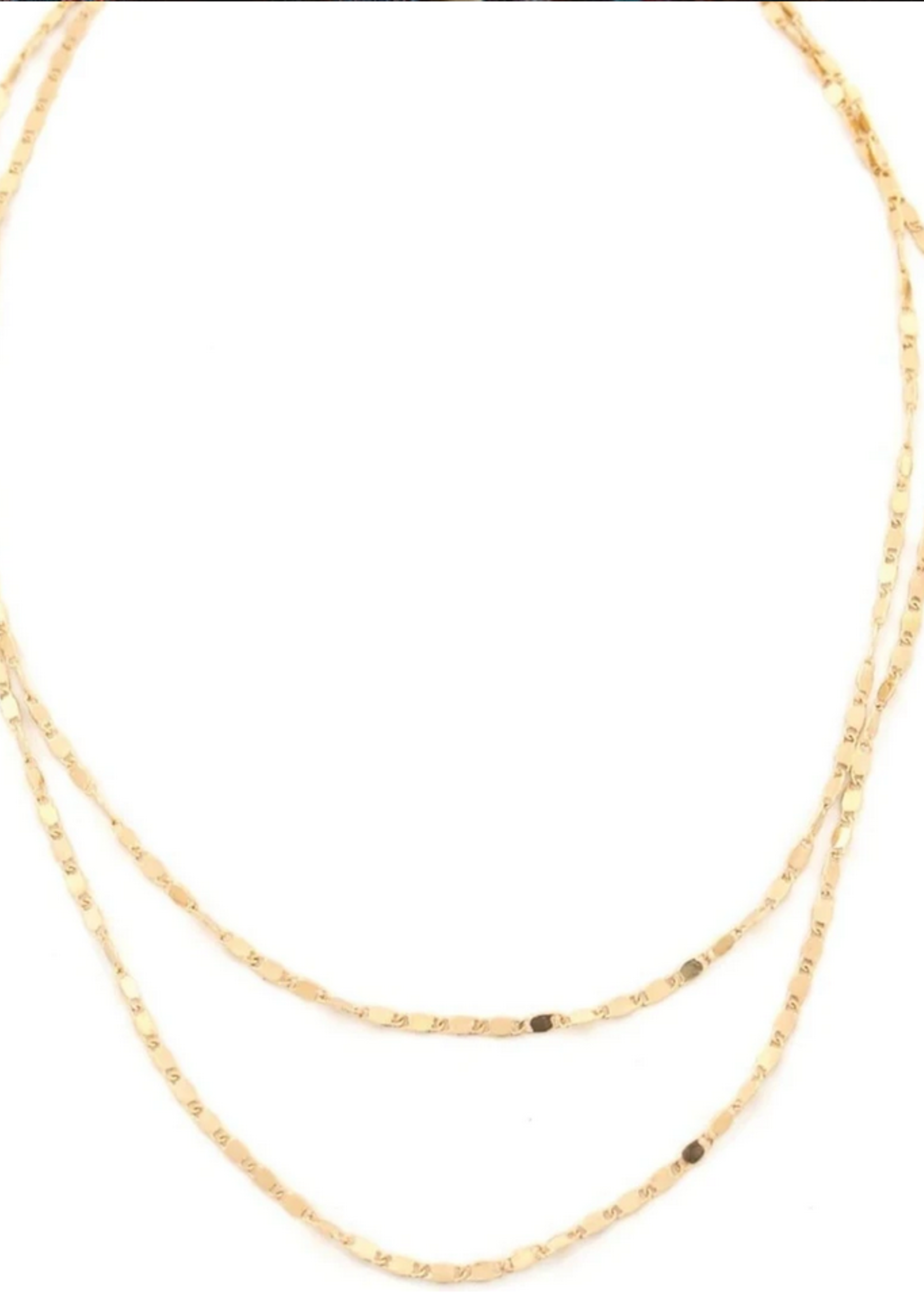 Cleo layered necklace gold