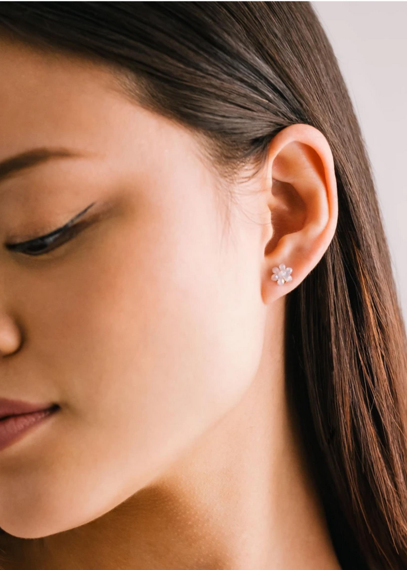 Posy stud earring pink
