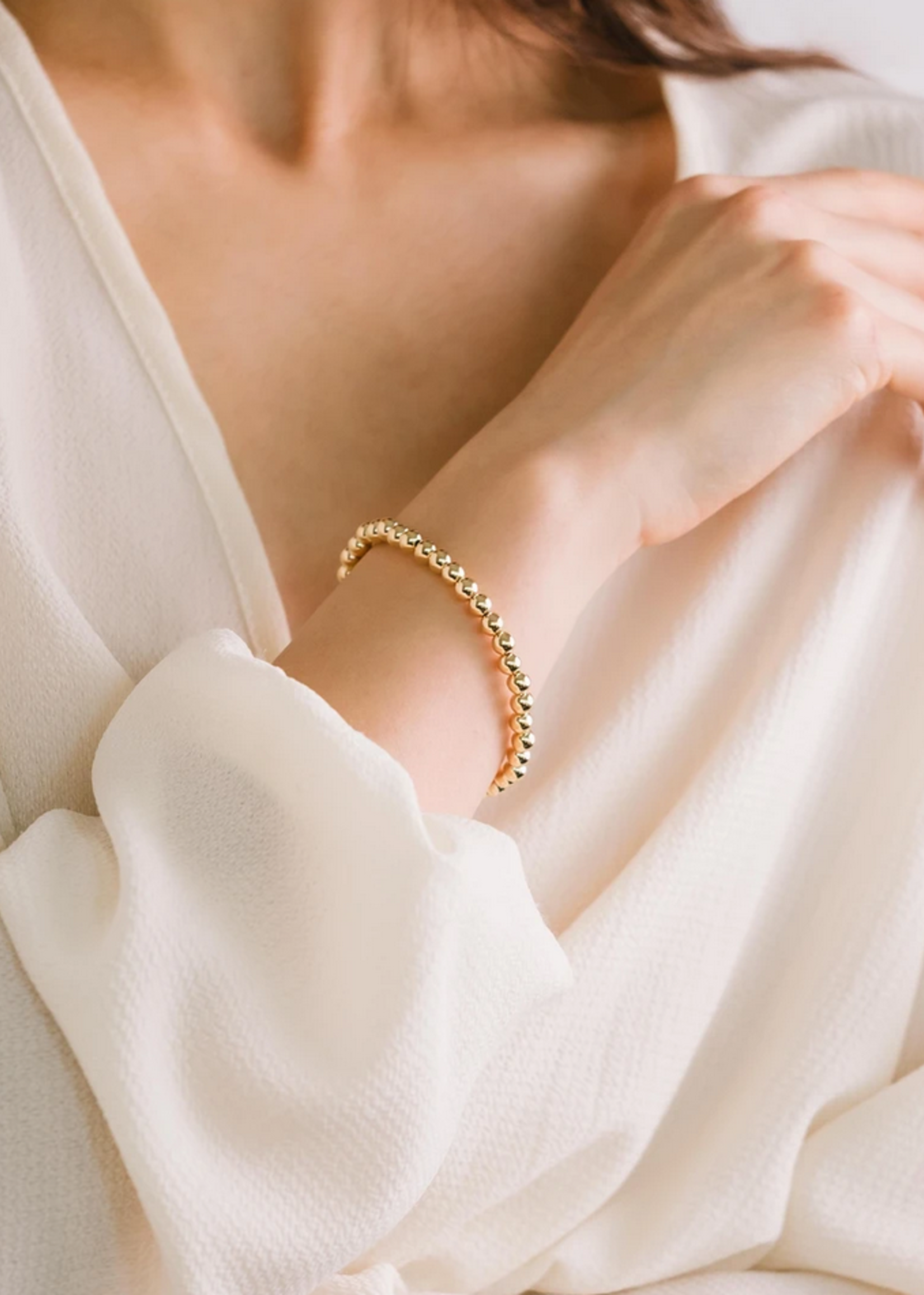 Golden hour small stretch bracelet gold