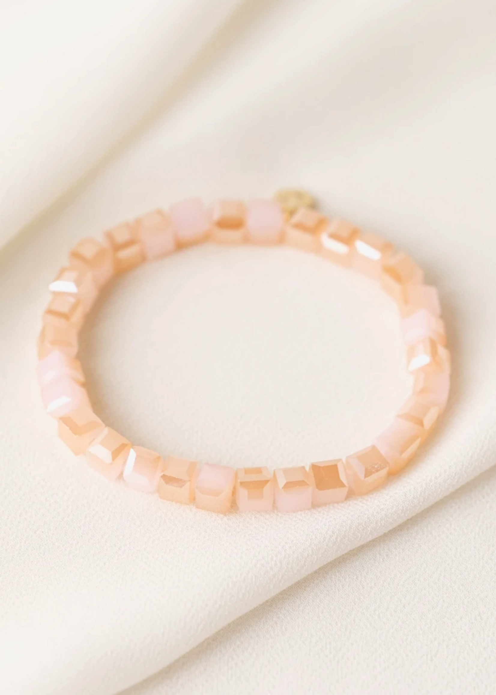 Dawn stretch bracelet sunset pink