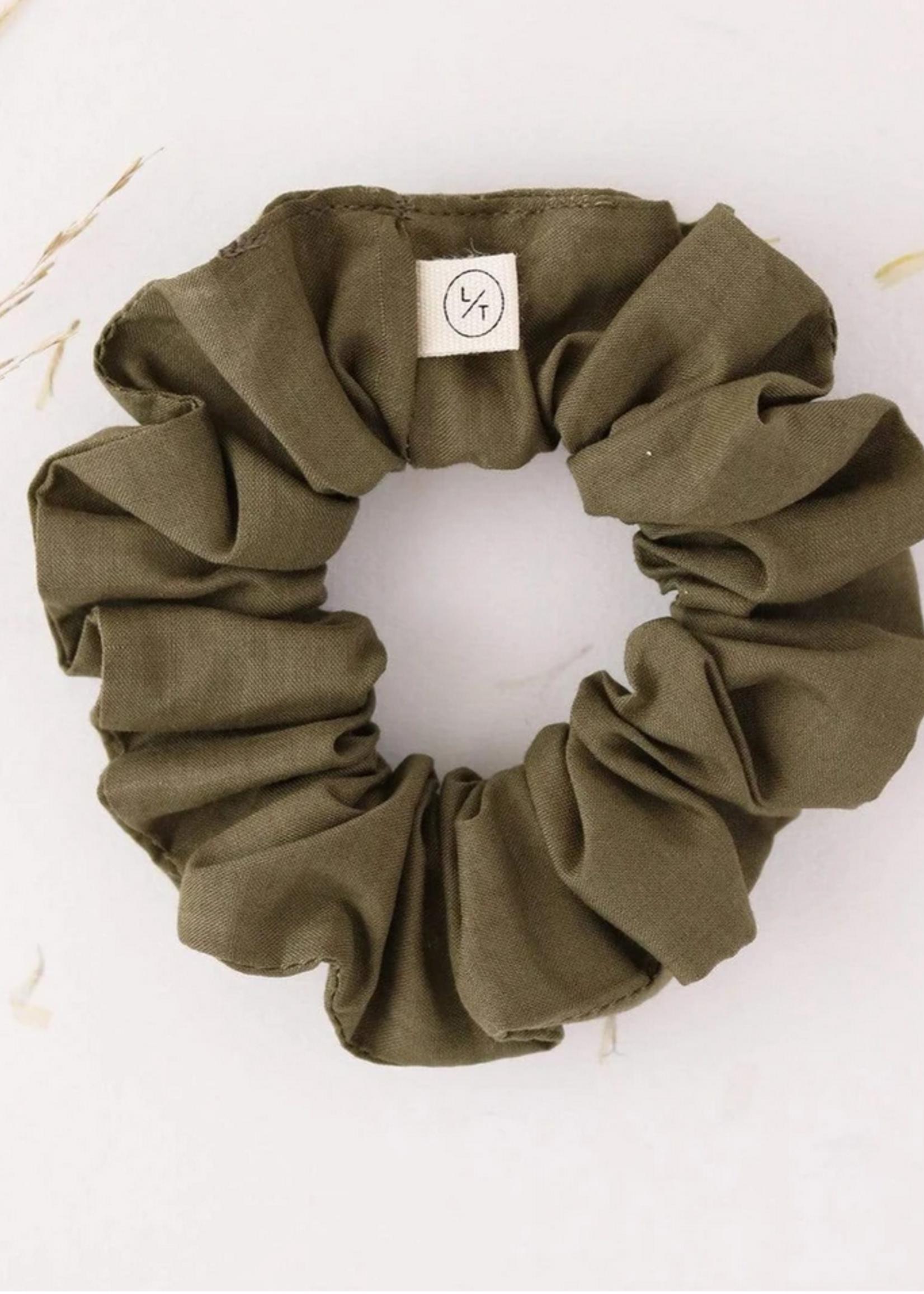 Mini sunday cotton scrunchie olive