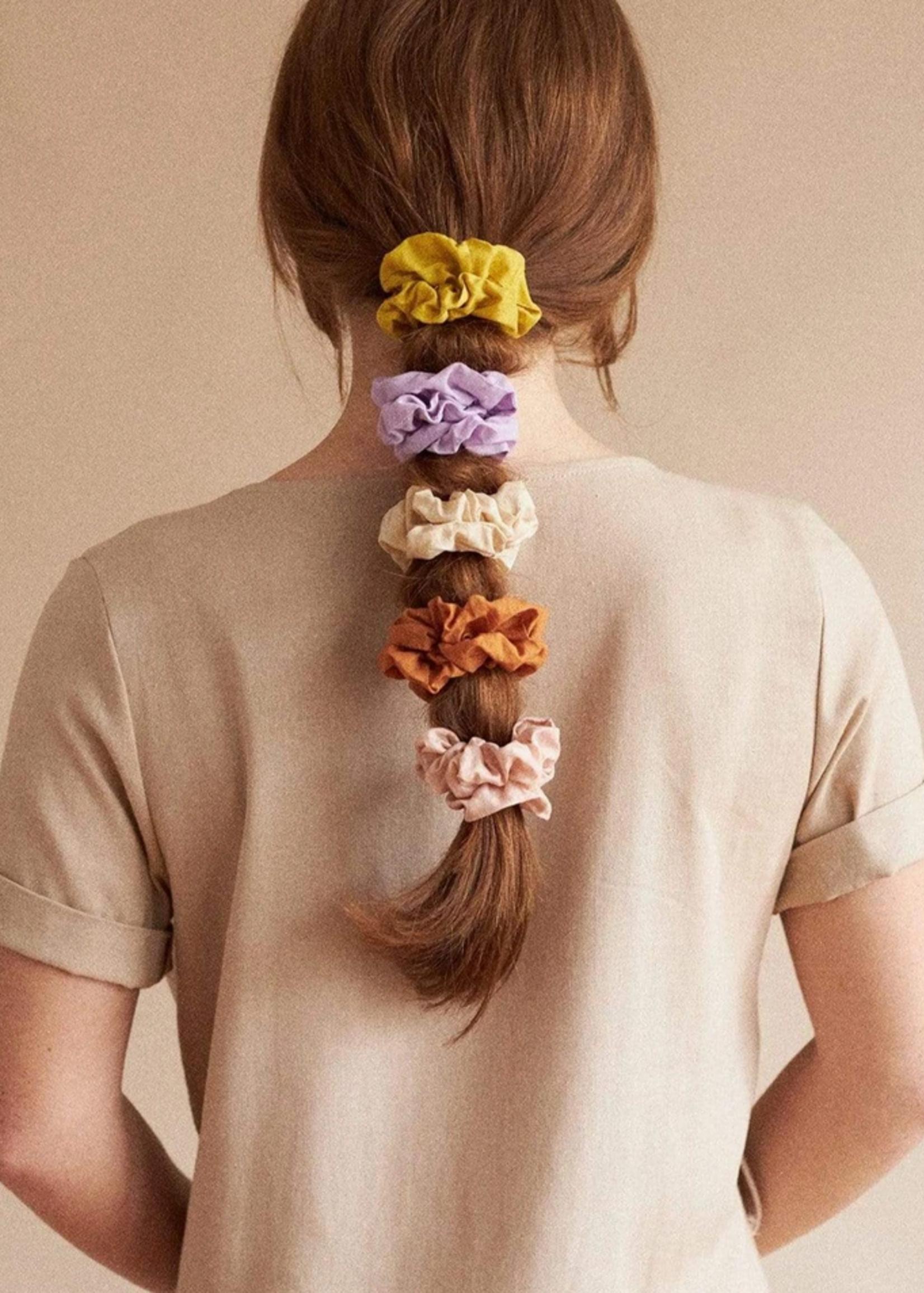 Mini sunday cotton scrunchie blush