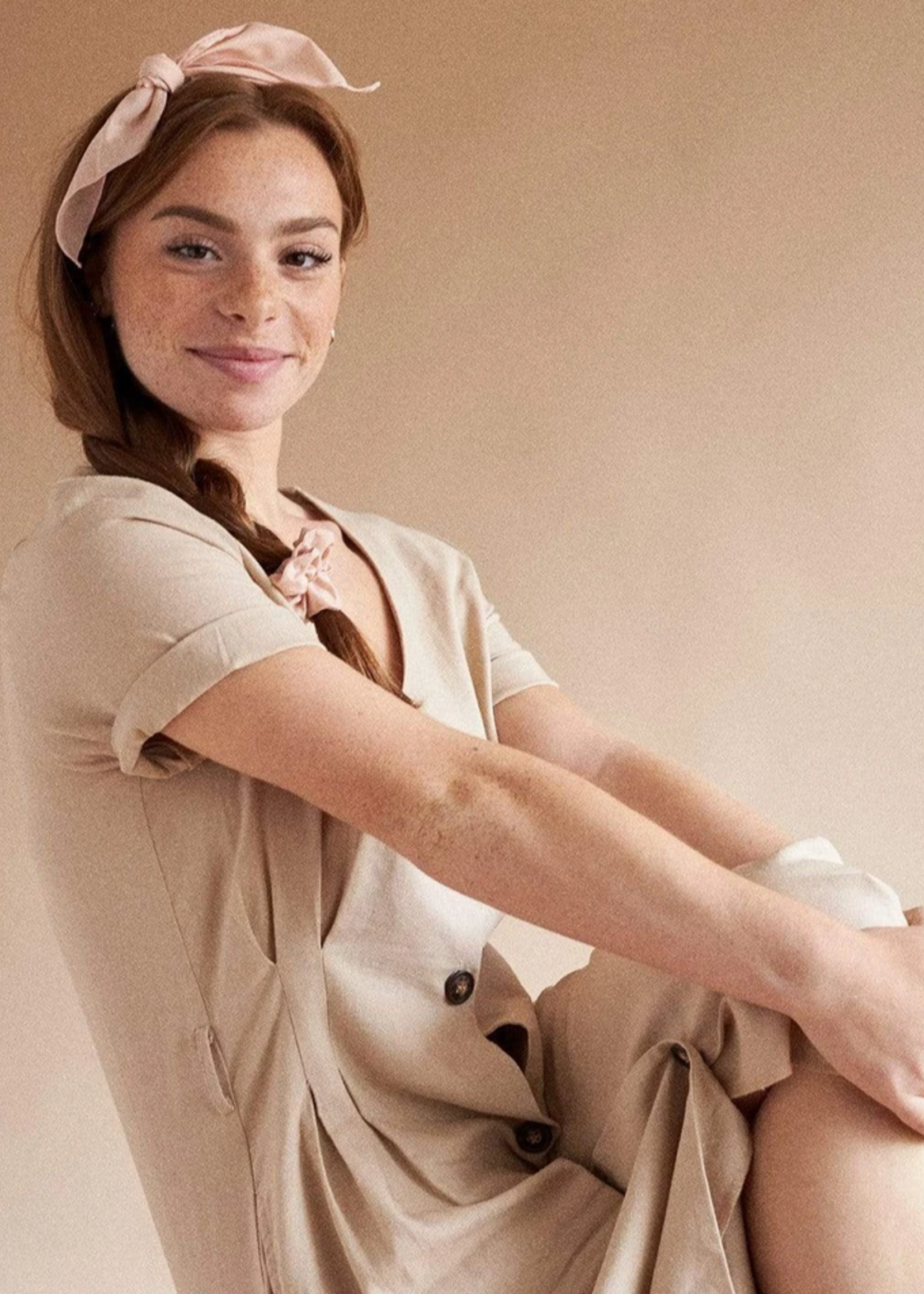 Lana cotton scarf blush