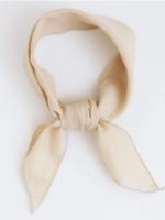 Lana cotton scarf oat milk